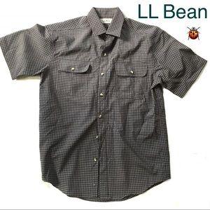 LL Bean Short Sl Polyester/ Nylon Men's M Medium